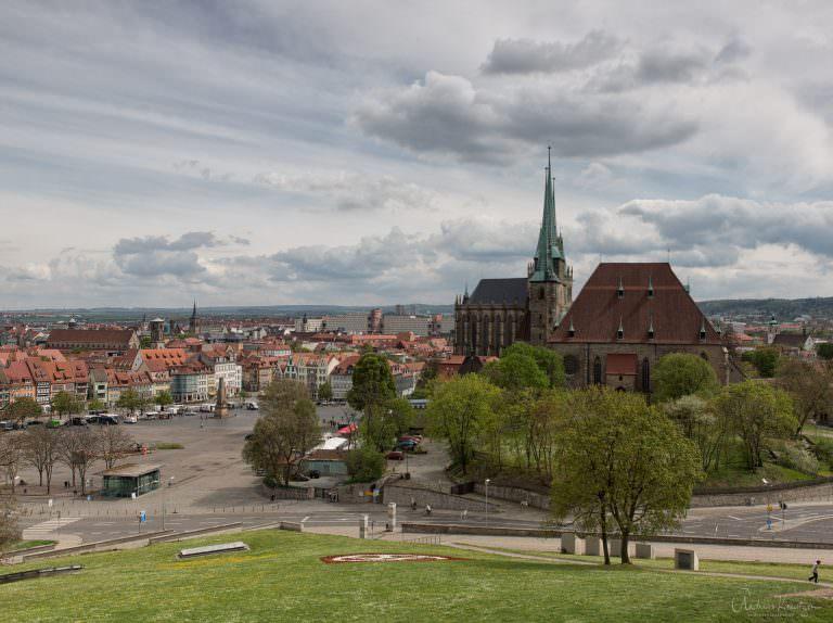 Blich auf den Erfurter Domplatz