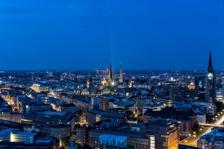 Blick über die Hamburger Innenstadt
