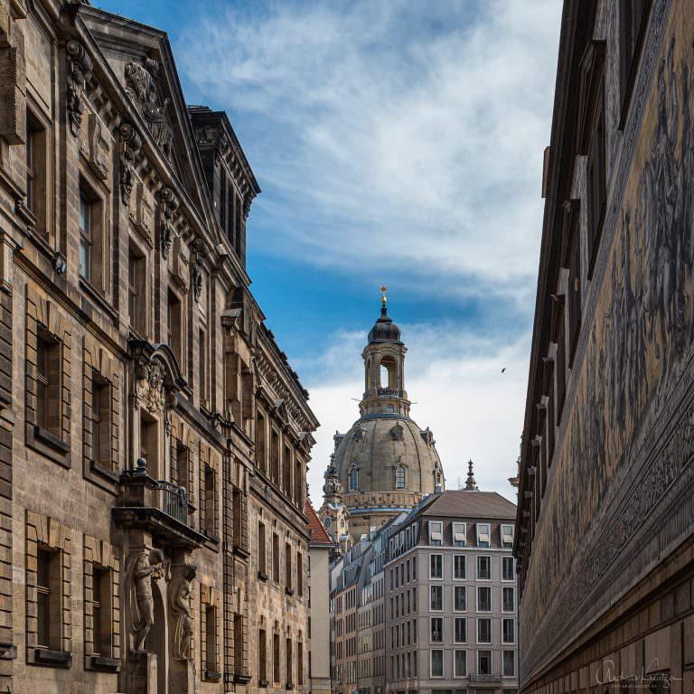Blick vom Fürstenzug auf die Frauenkirche