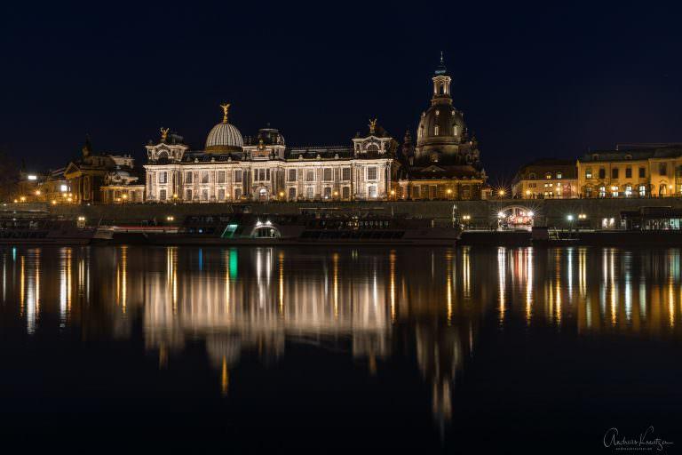 Brühlsche Terrassen bei Nacht