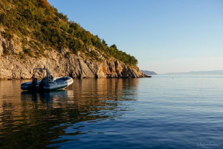 Bucht von Camping Ujča