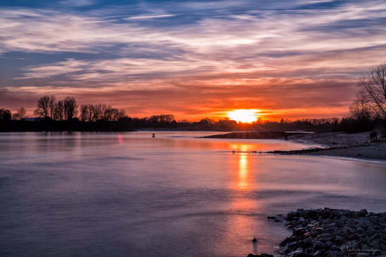 Der Sonnenuntergang heute an der Elbe II