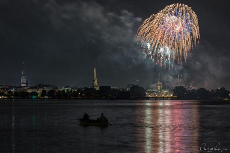 Feuerwerk auf der Alster