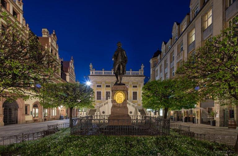Johann Wolfgang Goethe Denkmal in Leipzig
