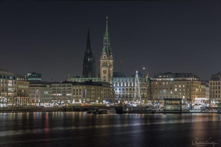 Jungfernstieg und Rathausmarkt zur Weihnachtszeit