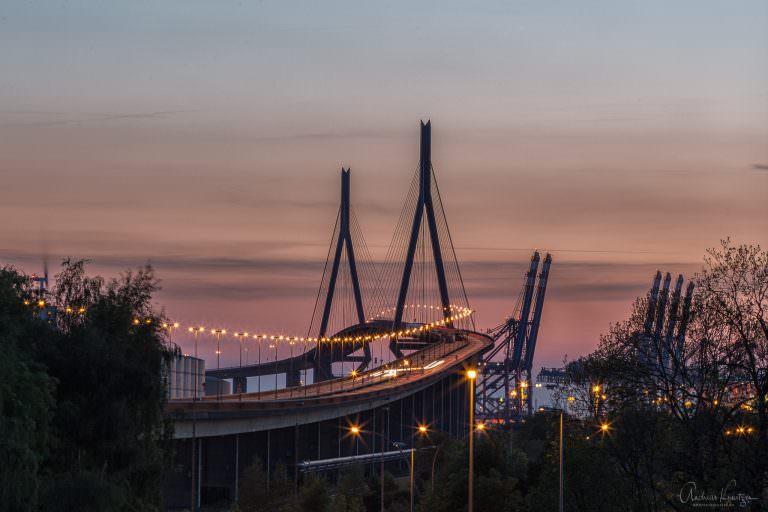 Kohlbrandbrücke im Abendlicht