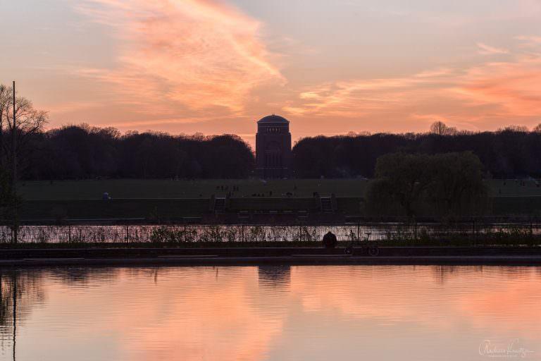 Sonnenuntergang am Hamburger Stadtpark II