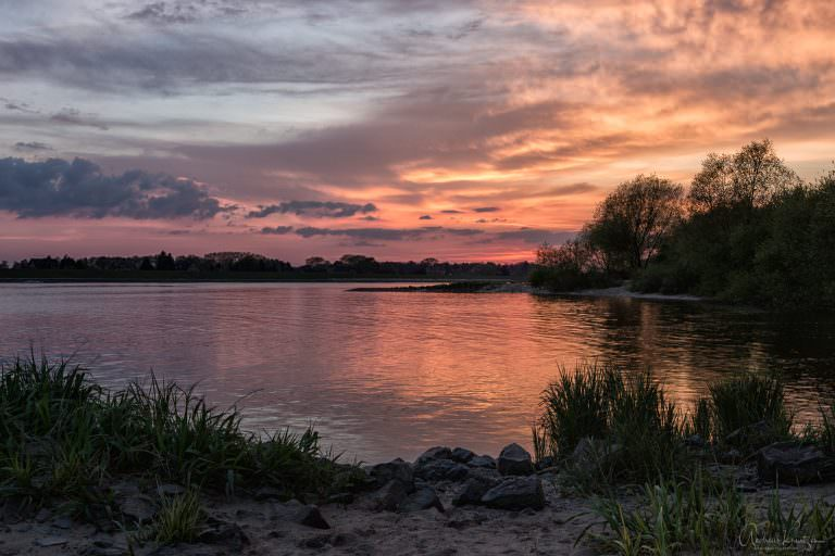 Sonnenuntergang an der Elbe XIII