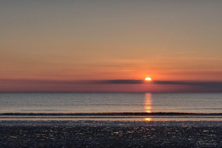 Sonnenuntergang an der Nordsee 0914 -II