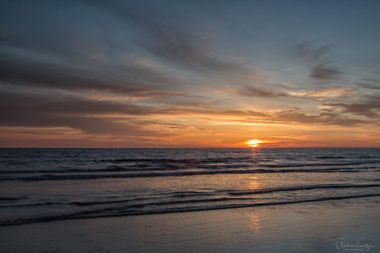 Sonnenuntergang an der Nordsee 240514