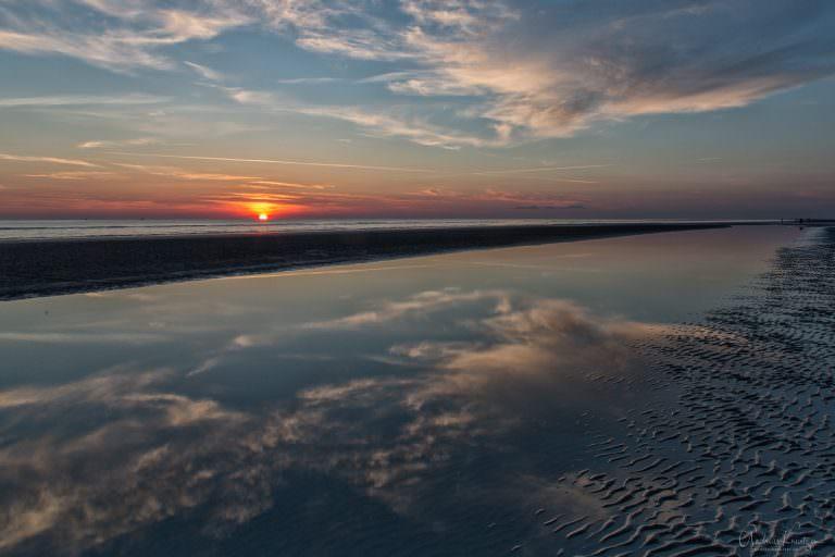 Sonnenuntergang an der Nordsee VI