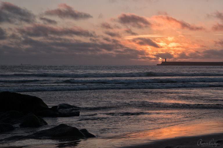 Sonnenuntergang in Matosinhos