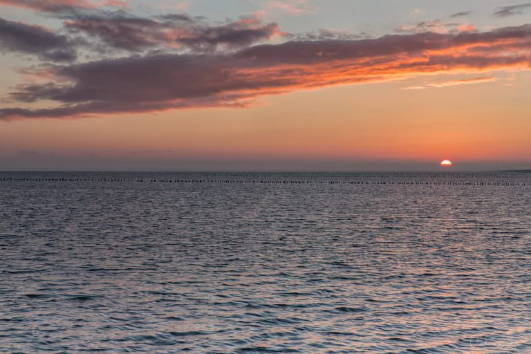 Sunrise at the North Sea