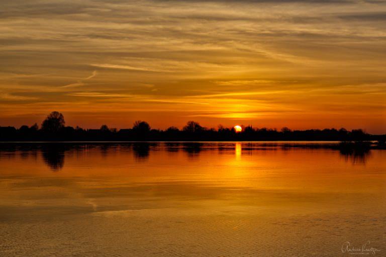 Sunset / Sonnenuntergang an der Elbe