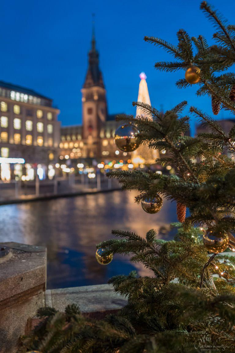 Weihnachtsbaum mit Rathaus