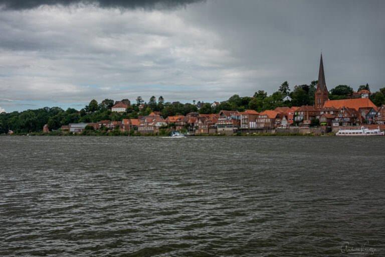 Blick auf die Lauenburger Altstadt