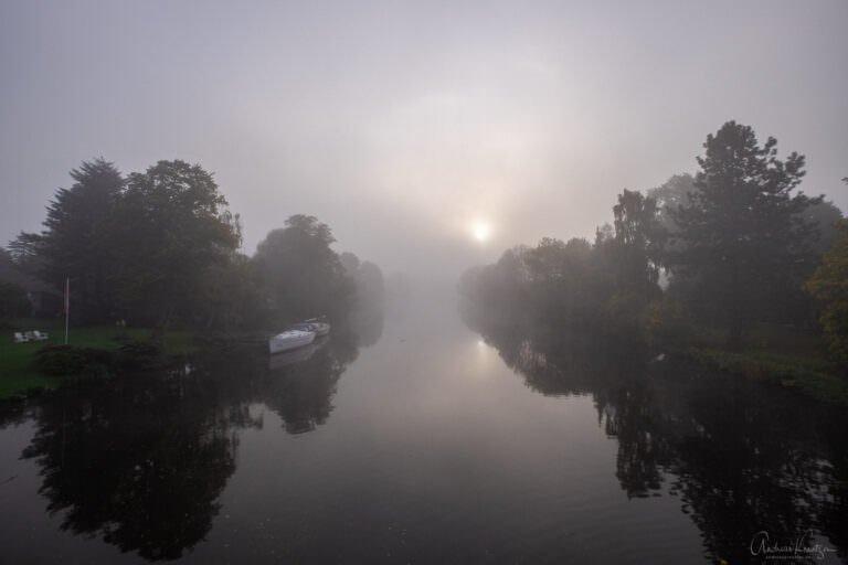 Dove Elbe im Nebel