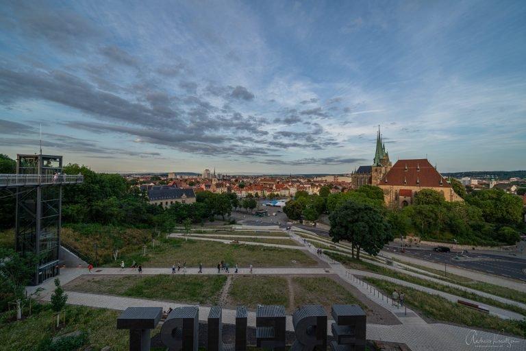 Blick vom Petersberg auf Erfurt